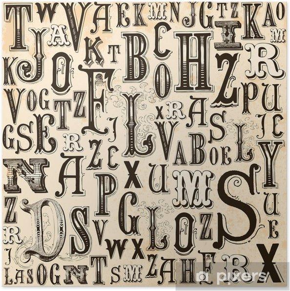 Plakat Vintage alfabet - Tematy