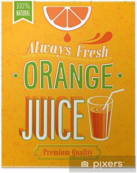 Plakát Vintage Orange Juice plakát. - Značky a symboly
