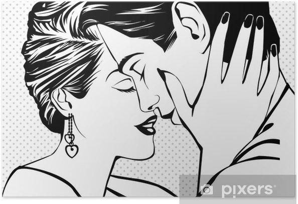 Plakat Vintage para w miłości - Tematy
