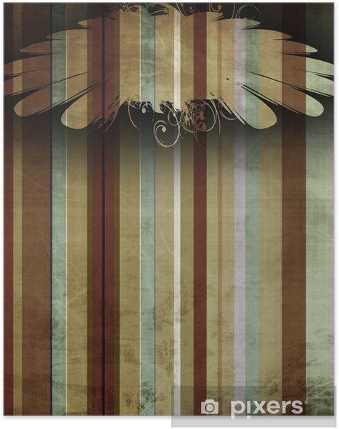 Plakat Vintage paski - Tła