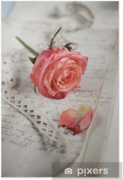 Plakát Vintage rose - Slavnosti