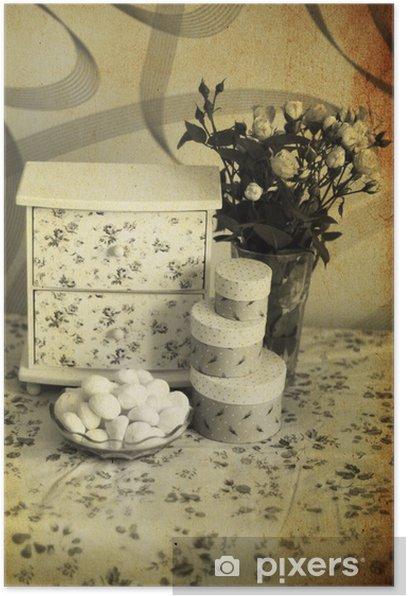 Plakat Vintage, słodki wnętrze - Style