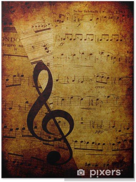 Plakat Vintage Tło Muzyczne
