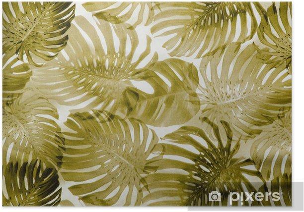 Plakat Vintage, tropikalnych, wzór tkaniny - iStaging
