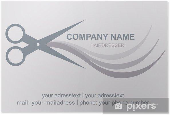Plakat Visitenkarte Friseur Logo