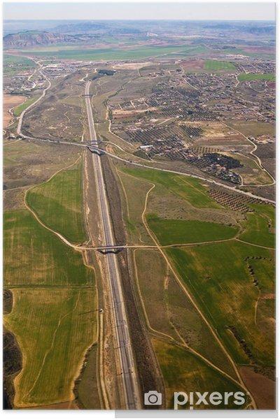 Plakát Vista Aerea de una Autopista - Infrastruktura