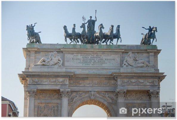 Plakát Vítězný oblouk a Milan - Evropa