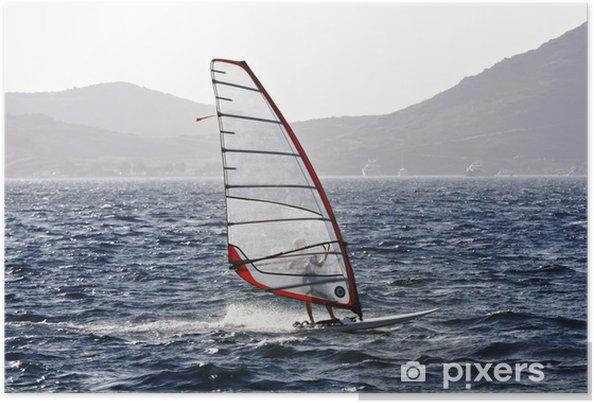 Plakát Vítr surfař požívají svobody a rychlost - Vodní sporty