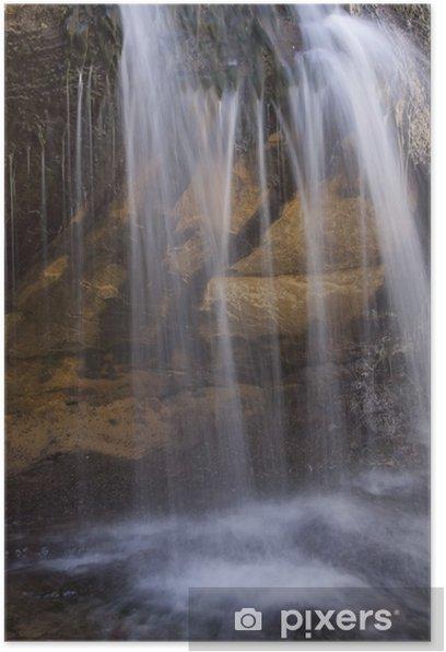 Plakát Vodopád detailní - Voda