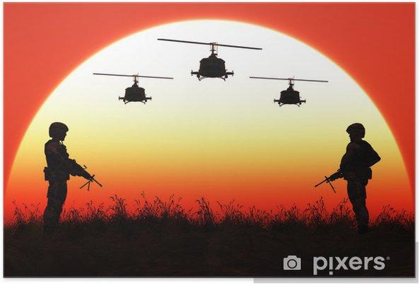 Plakát Vojáci v západu slunce - Témata
