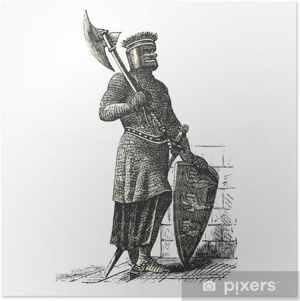 Plakát Voják z křížových výprav - Lidé v práci