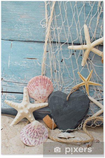Plakat Voucher na wakacje na plaży - Wakacje