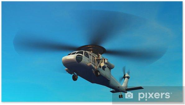 Plakát Vrtulník - Vzduch