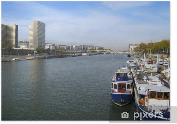 Plakát Vue sur la seine à Bercy - Evropská města