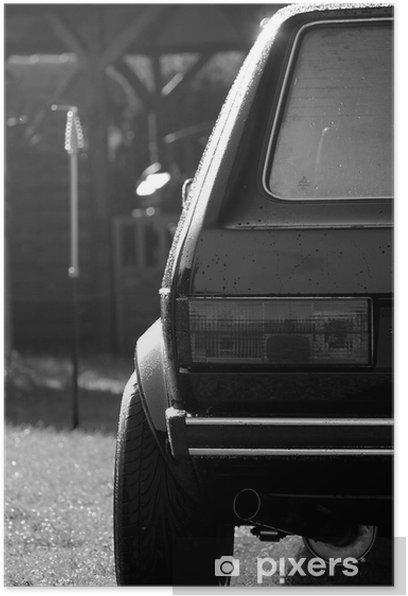 Plakat VW Golf 1 - Rozrywka