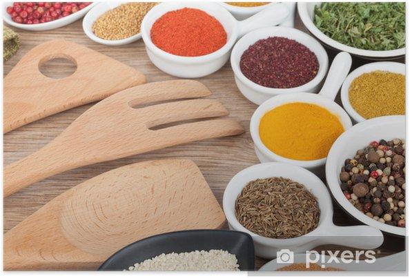 Plakát Výběr různé koření - Koření a bylinky