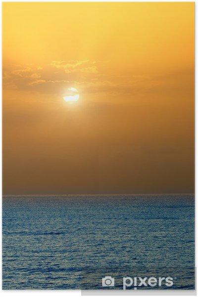 Plakát Východ slunce nad Atlantským oceánem - Voda