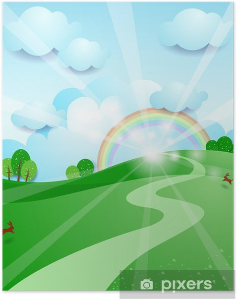 Plakát Východ slunce - Roční období