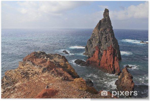 Plakát Východním cípu ostrova Madeira - Hory