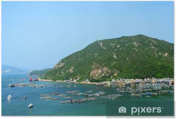 Plakát Výhled na moře v Hongkongu od vrcholu kopce - Příroda a divočina