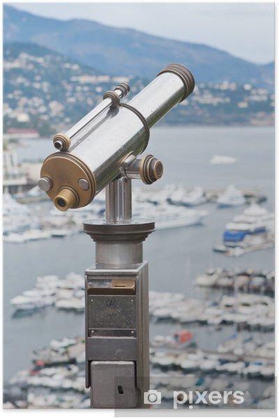 Plakát Vyhlídková plošina, dalekohled, Monaco - Evropa