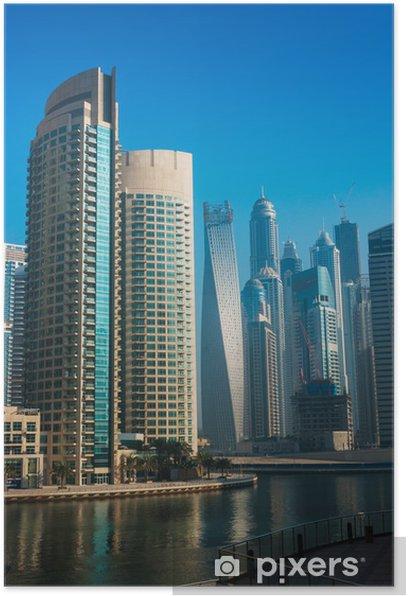 Plakát Výškové budovy a ulice v Dubaj, Spojené arabské emiráty - Soukromé budovy