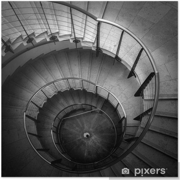 Plakát Vzhůru pohled na točité schodiště - Soukromé budovy