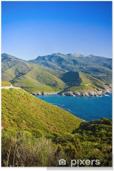 Plakat W drodze na Cap Corse, Korsyka, Francja - Wyspy