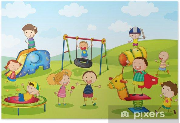 Plakat W parku - Dla ucznia