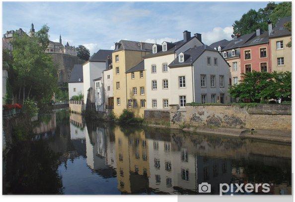 Plakat W starej Luksemburgu - Wakacje