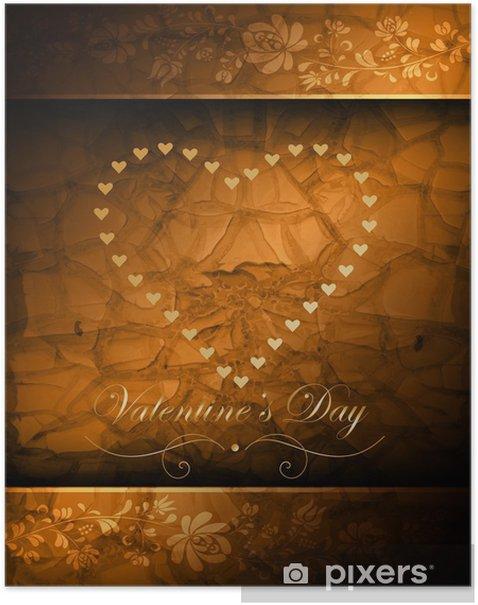 Plakat Walentynki - Święta międzynarodowe