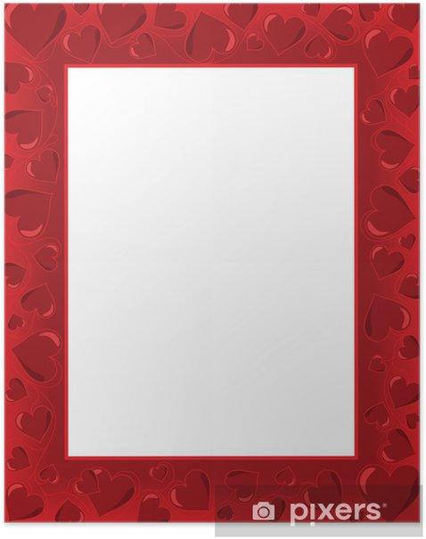 Plakat Walentynkowa kartka - Święta międzynarodowe
