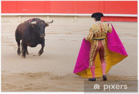 Plakat Walki byków w Barcelonie - Rozrywka