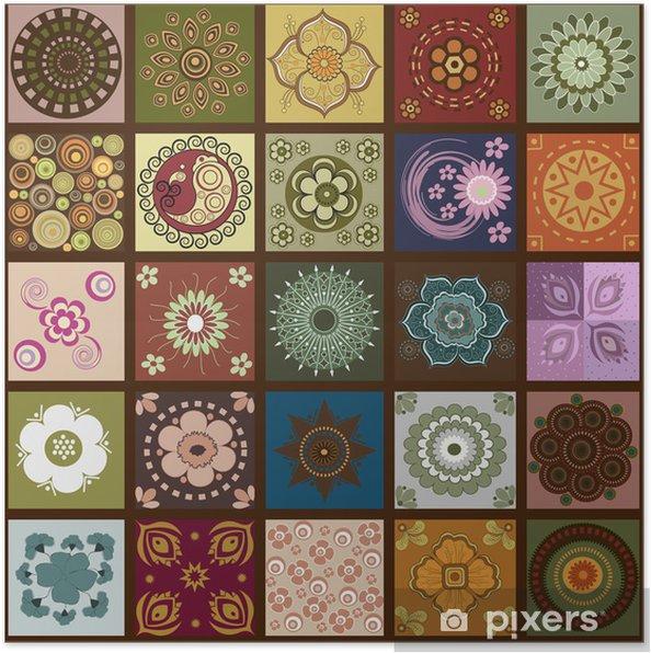 Plakat Wall kwiatów - Tła