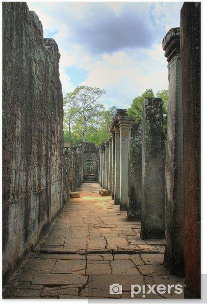 Plakát Wat Bayon (Angkor Wat) - Siam Reap - Kambodža / Kambodscha - Památky
