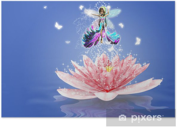 Plakát Water Lily víla -