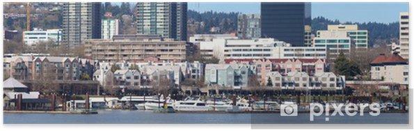 Plakat Waterfront marina panorama, Portland Oregon. - Ameryka