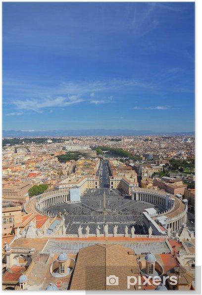 Plakat Watykan i Rzym - Miasta europejskie