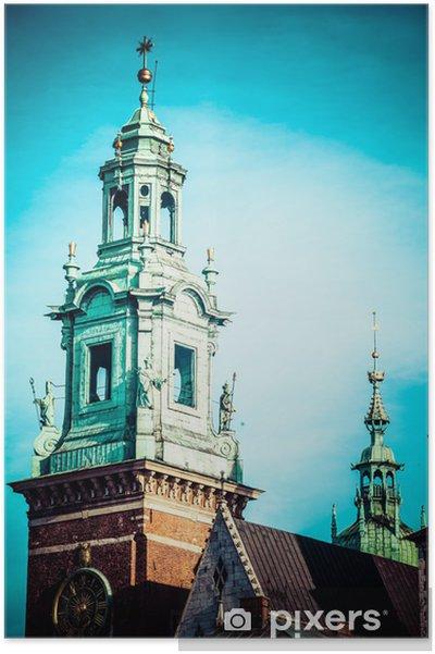 Plakát Wawel katedrála, slavný polský památka na vrchu Wawel, Krakov - Témata