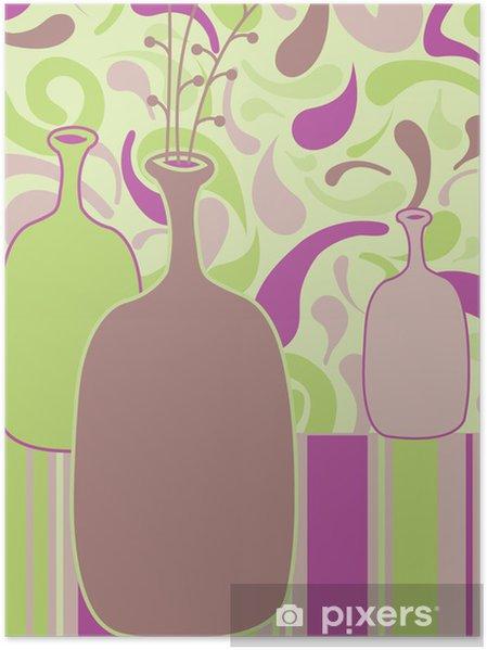 Plakat Wciąż ilustracji wektorowych natura z butelek - Sztuka i twórczość