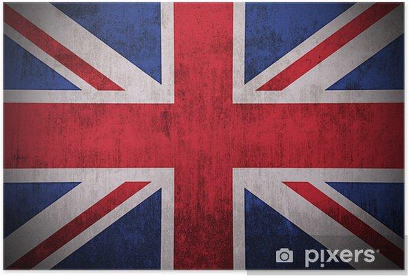 Plakat Weathered Flaga Wielkiej Brytanii, tkaniny teksturowane - Tematy