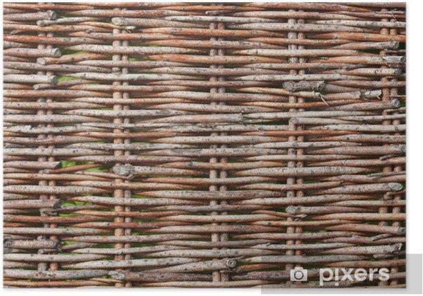 Plakát Weidengeflecht-Textur - Struktury
