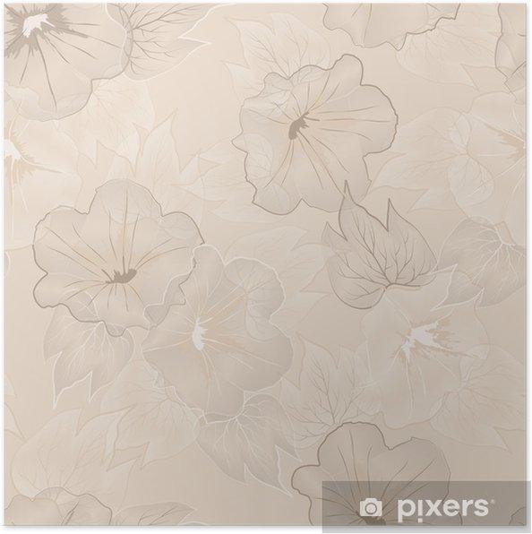 Plakat Wektor kwiatowy wzór - Zasoby graficzne