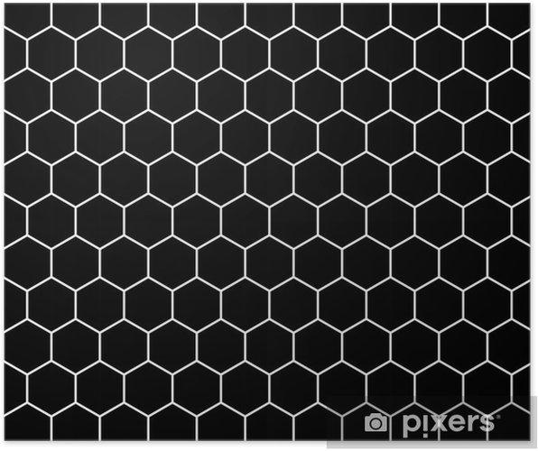 Plakat Wektor Nowoczesny Wzór Geometryczny Bezszwowe Hex Czarno Białe Streszczenie Tło Geometryczne Subtelny Poduszkę Wydruku Monochromatyczne
