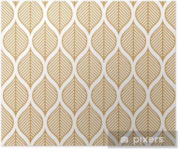 Plakat Wektor wzór geometryczny liść. streszczenie tekstura liści. - Zasoby graficzne