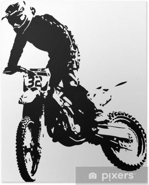 Plakat Wektora mx rider - Sporty ekstremalne
