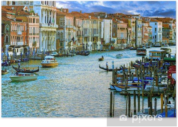 Plakat Wenecja, Włochy, Grand Canal i zabytkowe kamienice - Tematy