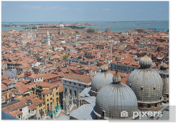 Plakat Wenecja z lotu ptaka. Włochy - Europa