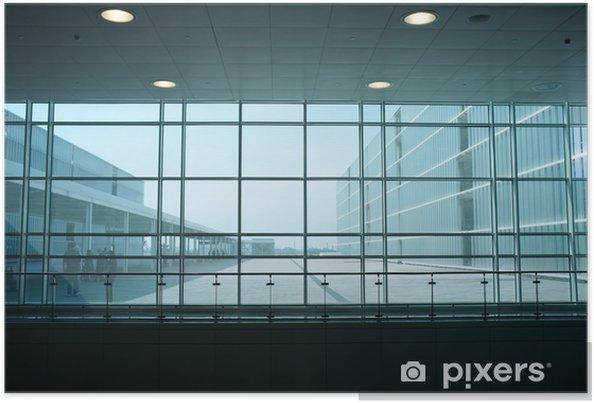 Plakat Wewnątrz nowoczesnego budynku. - Budynki prywatne
