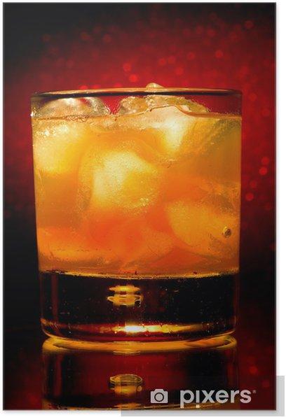 Plakát Whisky sklo - Alkohol